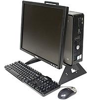 Innovation First RETAIL-DELL-AIO-015 All-In-One Desktop Stand for Dell Optiplex 320 - 390, 450 - 490, 740 - 780, Dell 1707, E176, E177 Monitors - Black