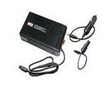 Rugged Airline Automobile laptop power adapter  Adapters are housed in durable extruded ABS cases