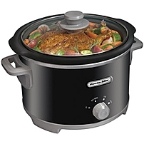 Hamilton Beach Proctor Silex 022333330432 33043 4-Quart Slow Cooker - Black by Hamilton Beach