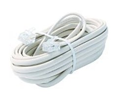 Steren Bl-324-015wh 15 Feet 6-wire Telephone Line Cable - For Phone - White