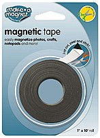 The Magnum MAG MT110 Super Strength Magnetic Tape is flexible rubber magnetic tape allows you to easily magnetize photos, crafts, notepads and more