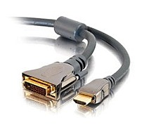 Cables To Go SonicWave 40286 1.64 Feet HDMI to DVI Video Interconnect Cable 1 x 19 pin Male HDMI 1 x DVI Male Black