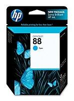 Image of Hewlett-Packard C9386A 88 Ink Cartridges for HP Officejet Pro L7780, K8600DN - Cyan