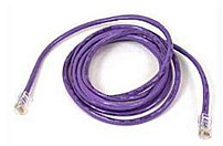 Belkin A3L791-04-PUR 4 Feet Category 5e Patch Cable - RJ-45 Male/Male Connector - Purple
