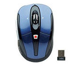 Gear Head Mpt3100blu-cp10 Wireless Optical Tilt Wheel Mouse - 2.4 Ghz - 5-buttons - Blue