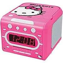 Hello Kitty Kt2053a Am, Fm Stereo Alarm Clock Radio With Cd Player - Pink