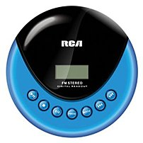 Rca Rp3013 Personal Cd Player With Fm Radio - Blue, Black