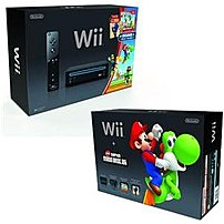 Nintendo Rvkskaah Video Game Console With Super Mario Bros For Wii - Black