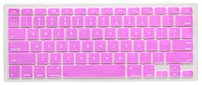 V7 Color Touch Pro MB1357PUR Silicone Keyboard Cover for Apple MacBook, MacBook Pro Notebooks - Purple