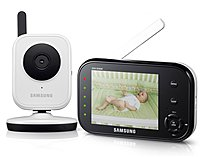 Samsung BabyVIEW SEW 3036W Wireless Video Baby Monitor with Infrared Night Vision and Zoom 3.5 inch Display