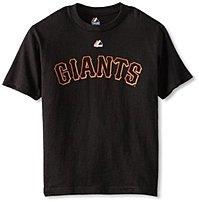 Majestic 726652196266 MLB San Francisco Giants Tim Lincecum Basic Youth T-Shirt - Black