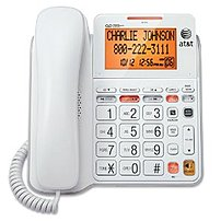 The AT and T CL4940WH Landline Telephone features an extra large tilt display for easy viewing, speakerphone, audio assist, extra large buttons, an extra loud ringer, visual ringer indication and Caller ID Call Waiting