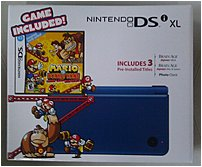 Nintendo UTLSBMD1 Video Game Console for DSi XL Bundle with Mario vs Donkey Kong Mini-Land Mayhem - Midnight Blue