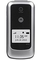 Motorola 616960022596 W418G Prepaid Flip Cell Phone - GSM - Bluetooth - Straight Talk - Silver - Locked to Prepaid