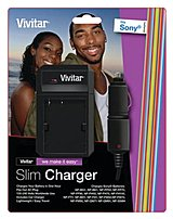 The Vivitar SC SON Universal Battery Charger is compatible for Sony Cameras and it features lithium ion technology, 110 220 V voltage and LED charging indicator.