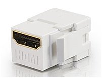 Cables to Go 03345 Snap-In Keystone Module - 1 x 19-pin HDMI Type A Female - White