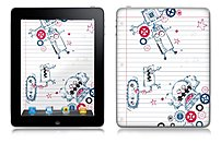 Pierre Belvedere 076750 Removable Skin for Apple iPad Robots