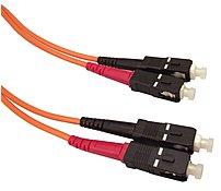 Shaxon FCSCSC01M-B 3.3 Feet Multimode Fiber Optic Patch Cable - 1 x SC Male/Male - Orange