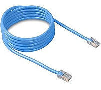 Belkin A3L781-01-BLU 1 Feet Category 5e Patch Cable - 1 x RJ-45 Male, Male - Blue