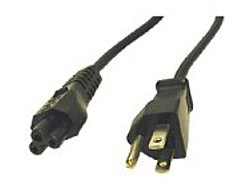 Cables To Go 757120274001 27400 6 Feet Notebook Power Cord - 1 x Power IEC 320 EN 60320 C5 Female, 1 x Power NEMA 5-15 Male - Black