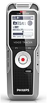 Philips Voice Tracer DVT7000 4 GB Digital Recorder - 1.5-inch LCD Display - Black, Silver Shadow