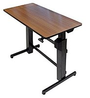 Ergotron Workfit-D 24-271-927 Sit-Stand Desk - Black, Walnut Top