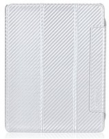 Tunewear CarbonLook IPAD3-CARBON-02 Case for iPad 3 - White