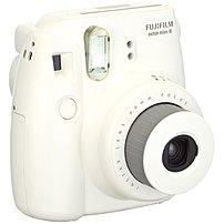 Fujifilm Instax Mini 8 16273398 Instant Film Camera - 60 mm Lens - 0.37x Magnification - White