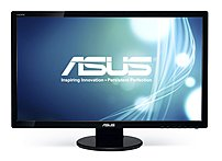 Asus VE278H 27 inch Widescreen 50,000,000:1 2ms VGA/HDMI LED LCD Monitor, w/Speakers (Black) 285137340