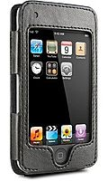 DLO 008-1002 Leather Hip Case Sleeve fits Apple iPod touch 1st and 2nd Generation 8 GB and 16 GB - Black