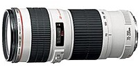Canon EF 70-200mm f/4L USM Telephoto Zoom Lens White 2578A002