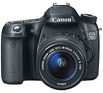 Canon EOS 8469B009 70D 20.2 Megapixels SLR Digital Camera with EF-S 18-55 mm Lens - 3x Optical Zoom - 3-inch LCD Display