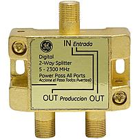 GE 030878376235 37623 Digital 2 Way Coaxial Splitter 5 2300 MHz