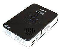 Aaxa Pico P2 Jr Kp-100-02 Dlp Projector - 55 Lumens - 1000:1 - 4:3 - Black, Glossy White