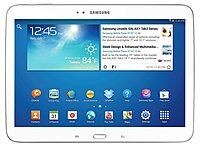 The Samsung Galaxy Tab 3 GT P5210ZWYXAR Tablet PC features a 10.1 inch touch display along with the same familiar interface as other Samsung Galaxy devices, making it easy to use