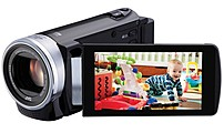JVC Everio GZ-E200BUS 1.5 Megapixels Camcorder - 40x Optical/200x Digital Zoom - 3-inch LCD Display - 2.9-116 mm Lens - HDMI - Black