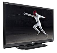 Sharp LC-32LE450U 32-inch Class LED HDTV - 720p - 16:9 - 3000000:1 - 60 Hz - HDMI ??? Black