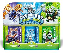 Activision Skyland SWAP Force Triple Pack 2  Mega Ram Spyro, Blizzard Chill, Zoo Lou Bring the Skylanders to life by placing them on the Portal of Power