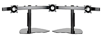 Image of Chief KTP325B Flat Panel Triple Monitor Stand for 3 LCD Monitors - Black