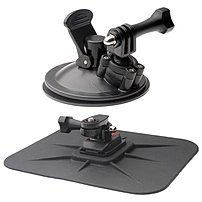 The Vivitar Action Pro Series All in 1 Car Kit includes a suction windshield mount and a dashboard mount