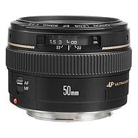 Canon 2515A003 EF 50mm f/1.4 USM Standard & Medium Telephoto Lens - f/1.4