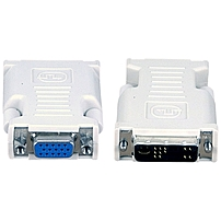Avocent VAD-27 DVI-I to VGA Adapter - 1 x DVI-I Male Video - 1 x HD-15 Female VGA