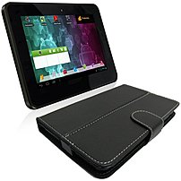 Visual Land Connect VL-879-8GB-TC-007-BLK Internet Tablet with Pro Folio Protective Leather Case/Stand - ARM Cortext-A8 1.2 GHz Dual-Core - 512 MB RAM/8 GB Memory - Android 4.0 Ice Cream Sandwich - 7