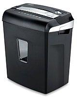 Aurora Jamfree Au1040xa Paper Shredder - Cross Cut - 10 Sheets - Black/gray