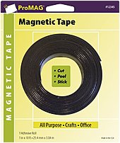 The ProMAG Products AFG 12345 PGY Magnetic Tape cuts to desired length, peel and stick your way to great magnetic projects.