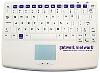 Getwell Network KBA-C4166-GWN Wireless Keyboard With Touchpad - White