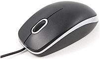 iMicro MO-9211U USB Optical Mouse - 800 dpi - Scroll Wheel - Black, Silver