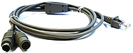 Datalogic CAB-321 Keyboard Wedge Cable - mini-DIN (PS/2) ...