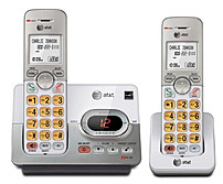 AT T EL52203 2 Handset Cordless Phone System with Caller ID Call Waiting DECT 6.0 Upto 14 Minutes Recording Time