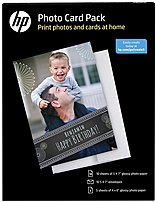 Hp Sf791a Photo Card Pack For Inkjet Printers - 5 X 7-inch - 10 Sheets - White